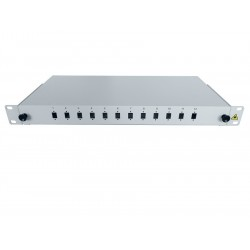 "19"" Optic Patch Panel 1U-12 SC, Si"