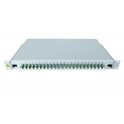"19"" Optic Patch Panel Splice ready 24x E2000/APC"