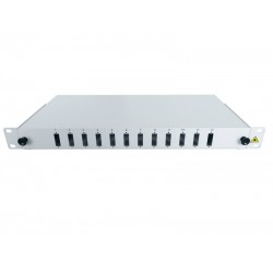 "19"" Optic Patch Panel 1U-12 SC, dx"