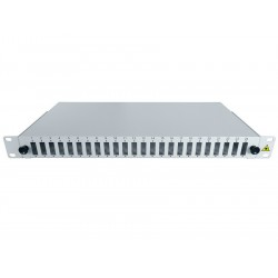 "19"" Optic Patch Panel 1U-24 SC, dx"