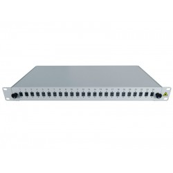 "19"" Optic Patch Panel 1U-24 SC, Si"