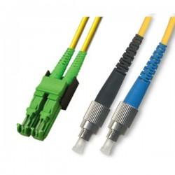 Optical Patchcord E2000/APC-FC/UPC, Duplex, SM