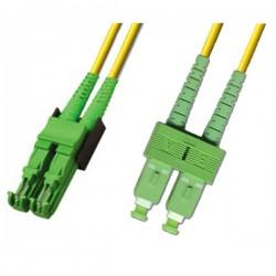 Optical Patchcord E2000/APC-SC/APC, Duplex, SM