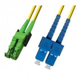Optical Patchcord E2000/APC-SC/UPC, Duplex, SM